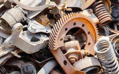 Ferrous scrap is scrap iron and steel. This includes automobiles, steel beams, railroad tracks. Nonferrous scrap metal is scrap metal which includes copper, aluminum, lead, zinc, nickel and other precious metals.